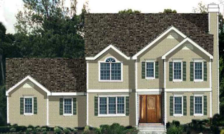 Traditional House Plan #033-00108 Elevation Photo