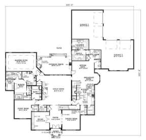Floorplan 1 for House Plan #110-00631