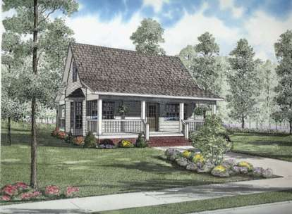 2 Bed, 1 Bath, 975 Square Foot House Plan - #110-00632