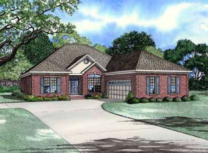 3 Bed, 2 Bath, 2413 Square Foot House Plan - #110-00633