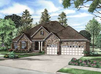 4 Bed, 3 Bath, 5723 Square Foot House Plan - #110-00639