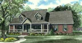 Country House Plan #110-00640 Elevation Photo