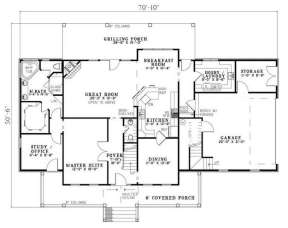 Floorplan 1 for House Plan #110-00640