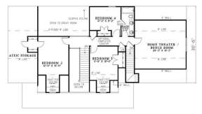 Floorplan 2 for House Plan #110-00640