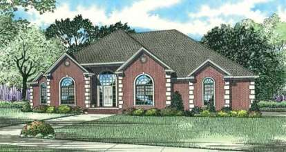 4 Bed, 2 Bath, 2631 Square Foot House Plan - #110-00642