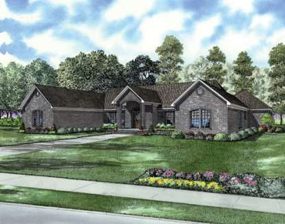 3 Bed, 3 Bath, 2864 Square Foot House Plan - #110-00645