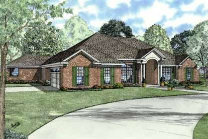 4 Bed, 3 Bath, 2668 Square Foot House Plan - #110-00655