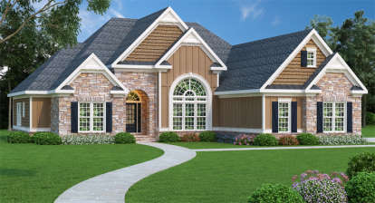 4 Bed, 2 Bath, 2406 Square Foot House Plan - #009-00040