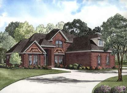 4 Bed, 3 Bath, 3206 Square Foot House Plan - #110-00665
