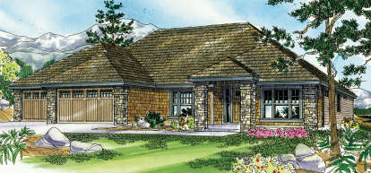 3 Bed, 2 Bath, 2661 Square Foot House Plan - #035-00433
