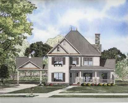 5 Bed, 3 Bath, 2516 Square Foot House Plan - #110-00671