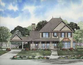 Country House Plan #110-00672 Elevation Photo