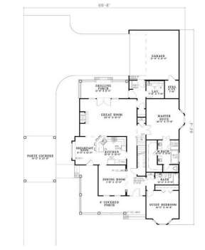Floorplan 1 for House Plan #110-00672
