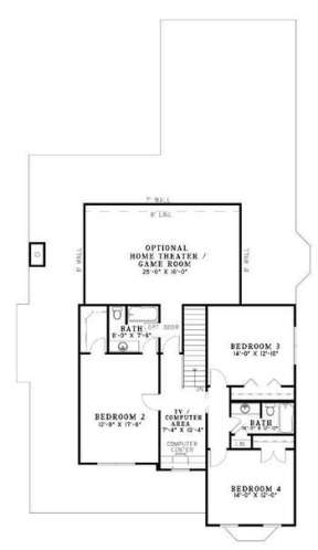 Floorplan 2 for House Plan #110-00672