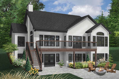 4 Bed, 3 Bath, 2812 Square Foot House Plan - #034-00149