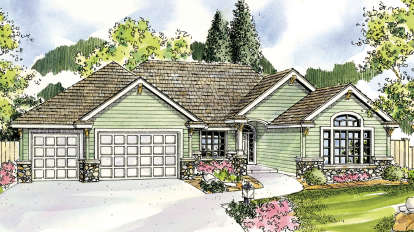 3 Bed, 2 Bath, 2700 Square Foot House Plan - #035-00435