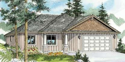 3 Bed, 2 Bath, 1507 Square Foot House Plan - #035-00436