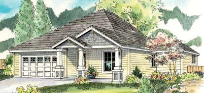 3 Bed, 2 Bath, 1523 Square Foot House Plan - #035-00437