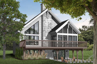 3 Bed, 2 Bath, 2243 Square Foot House Plan - #034-00150