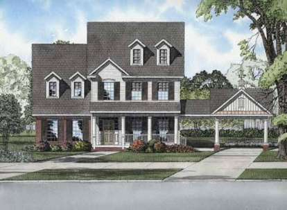 4 Bed, 2 Bath, 2564 Square Foot House Plan - #110-00689