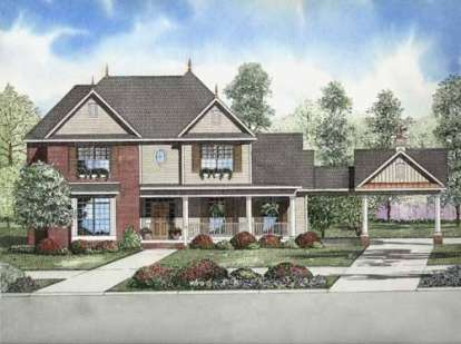 4 Bed, 2 Bath, 2710 Square Foot House Plan - #110-00691