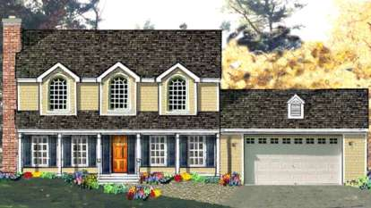 4 Bed, 2 Bath, 2138 Square Foot House Plan - #033-00112