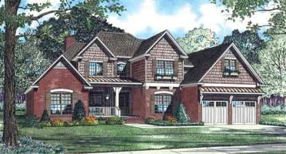4 Bed, 3 Bath, 2952 Square Foot House Plan - #110-00703