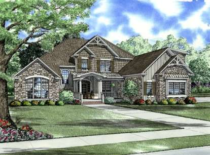 4 Bed, 3 Bath, 3167 Square Foot House Plan - #110-00708
