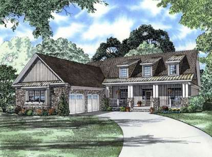 4 Bed, 3 Bath, 2445 Square Foot House Plan #110-00709