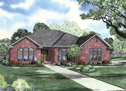 4 Bed, 2 Bath, 2109 Square Foot House Plan - #110-00711