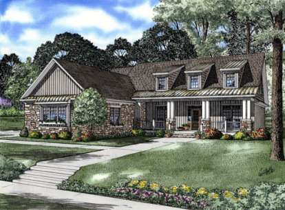 3 Bed, 3 Bath, 2129 Square Foot House Plan - #110-00716
