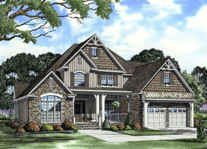 4 Bed, 3 Bath, 2481 Square Foot House Plan - #110-00717