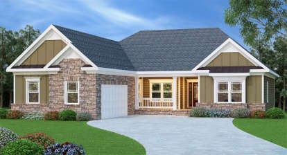 4 Bed, 2 Bath, 2149 Square Foot House Plan - #009-00041