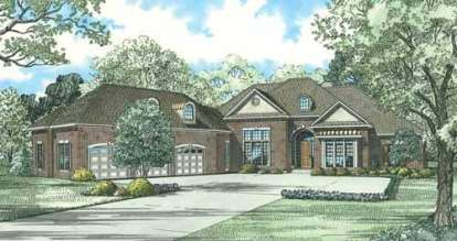 4 Bed, 4 Bath, 4300 Square Foot House Plan - #110-00755