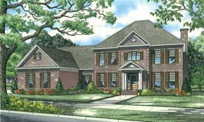 5 Bed, 3 Bath, 3978 Square Foot House Plan - #110-00761