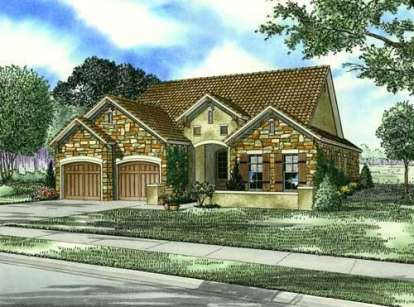 3 Bed, 2 Bath, 1943 Square Foot House Plan - #110-00767