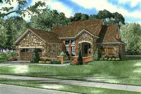 Cottage House Plan #110-00770 Elevation Photo