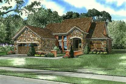 3 Bed, 2 Bath, 1747 Square Foot House Plan - #110-00770