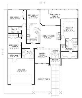Floorplan 1 for House Plan #110-00770