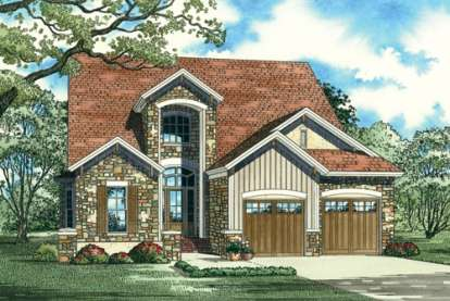 3 Bed, 2 Bath, 2410 Square Foot House Plan - #110-00804