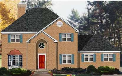 4 Bed, 2 Bath, 2418 Square Foot House Plan - #033-00118