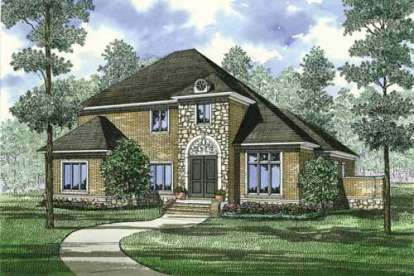5 Bed, 4 Bath, 3578 Square Foot House Plan - #110-00808