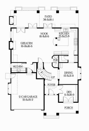 Floorplan 1 for House Plan #341-00010
