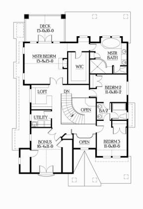 Floorplan 2 for House Plan #341-00010