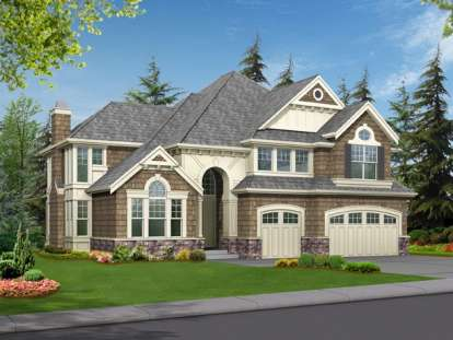 4 Bed, 2 Bath, 3570 Square Foot House Plan - #341-00016
