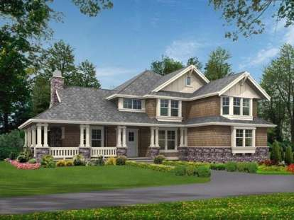 4 Bed, 3 Bath, 3590 Square Foot House Plan - #341-00017