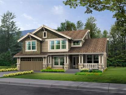 3 Bed, 2 Bath, 2407 Square Foot House Plan - #341-00034