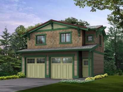1 Bed, 1 Bath, 565 Square Foot House Plan - #341-00040