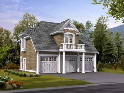 1 Bed, 1 Bath, 755 Square Foot House Plan - #341-00041