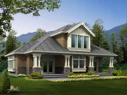 1 Bed, 1 Bath, 585 Square Foot House Plan - #341-00045